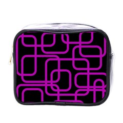 Purple And Black Elegant Design Mini Toiletries Bags by Valentinaart
