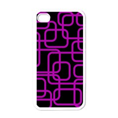 Purple And Black Elegant Design Apple Iphone 4 Case (white) by Valentinaart