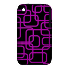 Purple And Black Elegant Design Apple Iphone 3g/3gs Hardshell Case (pc+silicone) by Valentinaart