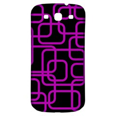 Purple And Black Elegant Design Samsung Galaxy S3 S Iii Classic Hardshell Back Case by Valentinaart
