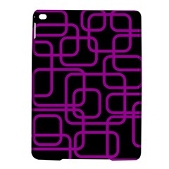 Purple And Black Elegant Design Ipad Air 2 Hardshell Cases by Valentinaart