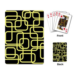 Yellow And Black Decorative Design Playing Card by Valentinaart