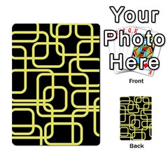 Yellow And Black Decorative Design Multi Purpose Cards (rectangle)  by Valentinaart