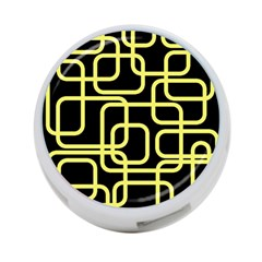 Yellow And Black Decorative Design 4-port Usb Hub (two Sides)  by Valentinaart