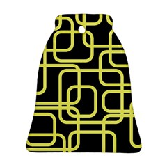 Yellow And Black Decorative Design Ornament (bell)  by Valentinaart
