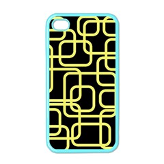 Yellow And Black Decorative Design Apple Iphone 4 Case (color) by Valentinaart