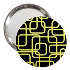 Yellow And Black Decorative Design 3  Handbag Mirrors by Valentinaart