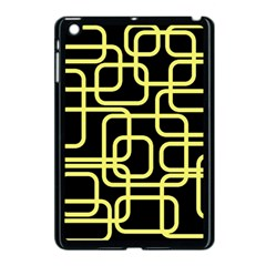Yellow And Black Decorative Design Apple Ipad Mini Case (black) by Valentinaart