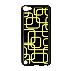 Yellow And Black Decorative Design Apple Ipod Touch 5 Case (black) by Valentinaart