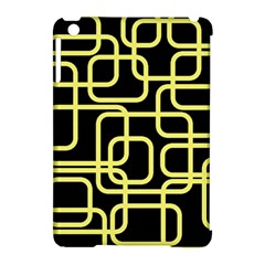 Yellow And Black Decorative Design Apple Ipad Mini Hardshell Case (compatible With Smart Cover) by Valentinaart