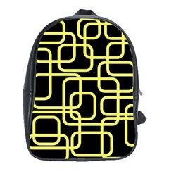 Yellow And Black Decorative Design School Bags (xl)  by Valentinaart