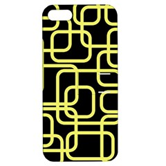 Yellow And Black Decorative Design Apple Iphone 5 Hardshell Case With Stand by Valentinaart
