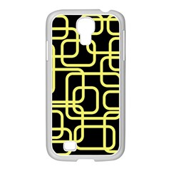 Yellow And Black Decorative Design Samsung Galaxy S4 I9500/ I9505 Case (white) by Valentinaart