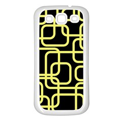 Yellow And Black Decorative Design Samsung Galaxy S3 Back Case (white) by Valentinaart