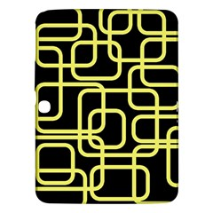 Yellow And Black Decorative Design Samsung Galaxy Tab 3 (10 1 ) P5200 Hardshell Case  by Valentinaart