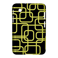 Yellow And Black Decorative Design Samsung Galaxy Tab 2 (7 ) P3100 Hardshell Case  by Valentinaart