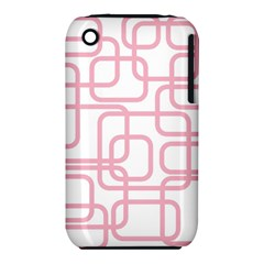 Pink Elegant Design Apple Iphone 3g/3gs Hardshell Case (pc+silicone) by Valentinaart