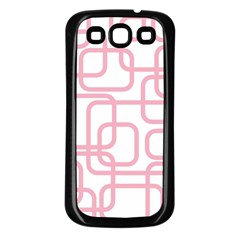 Pink Elegant Design Samsung Galaxy S3 Back Case (black) by Valentinaart