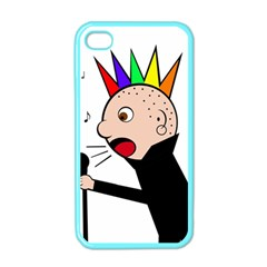 Punker  Apple Iphone 4 Case (color) by Valentinaart