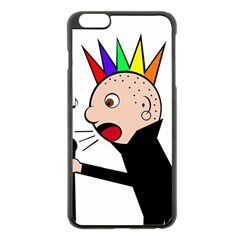 Punker  Apple Iphone 6 Plus/6s Plus Black Enamel Case by Valentinaart