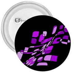 Purple Decorative Abstraction 3  Buttons by Valentinaart