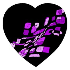 Purple Decorative Abstraction Jigsaw Puzzle (heart) by Valentinaart