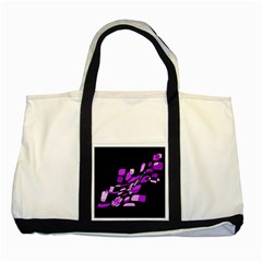 Purple Decorative Abstraction Two Tone Tote Bag by Valentinaart
