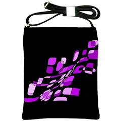Purple Decorative Abstraction Shoulder Sling Bags by Valentinaart