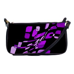 Purple Decorative Abstraction Shoulder Clutch Bags by Valentinaart