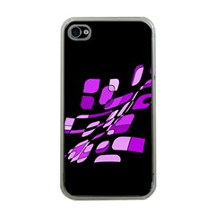 Purple Decorative Abstraction Apple Iphone 4 Case (clear) by Valentinaart