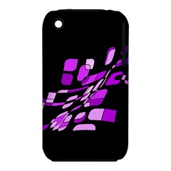 Purple Decorative Abstraction Apple Iphone 3g/3gs Hardshell Case (pc+silicone) by Valentinaart