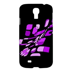 Purple Decorative Abstraction Samsung Galaxy S4 I9500/i9505 Hardshell Case by Valentinaart
