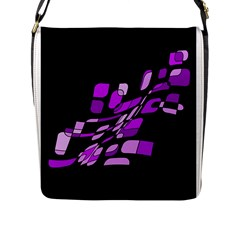 Purple Decorative Abstraction Flap Messenger Bag (l)  by Valentinaart