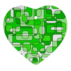 Green Decorative Abstraction  Ornament (heart)  by Valentinaart