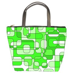 Green Decorative Abstraction  Bucket Bags by Valentinaart