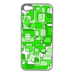 Green Decorative Abstraction  Apple Iphone 5 Case (silver) by Valentinaart