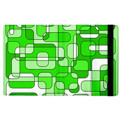 Green Decorative Abstraction  Apple Ipad 2 Flip Case by Valentinaart