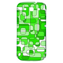 Green Decorative Abstraction  Samsung Galaxy S3 S Iii Classic Hardshell Back Case by Valentinaart