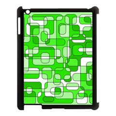 Green Decorative Abstraction  Apple Ipad 3/4 Case (black) by Valentinaart