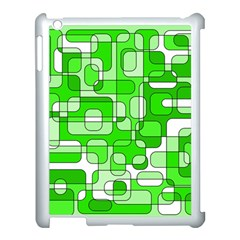 Green Decorative Abstraction  Apple Ipad 3/4 Case (white) by Valentinaart