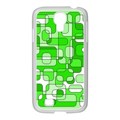 Green Decorative Abstraction  Samsung Galaxy S4 I9500/ I9505 Case (white) by Valentinaart