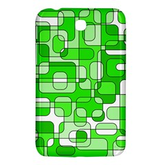 Green Decorative Abstraction  Samsung Galaxy Tab 3 (7 ) P3200 Hardshell Case  by Valentinaart