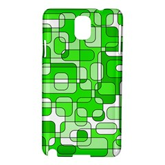 Green Decorative Abstraction  Samsung Galaxy Note 3 N9005 Hardshell Case by Valentinaart