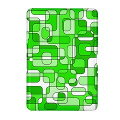 Green Decorative Abstraction  Samsung Galaxy Tab 2 (10 1 ) P5100 Hardshell Case  by Valentinaart