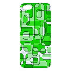 Green Decorative Abstraction  Iphone 5s/ Se Premium Hardshell Case by Valentinaart