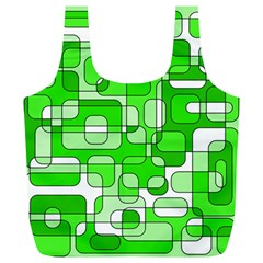 Green Decorative Abstraction  Full Print Recycle Bags (l)  by Valentinaart