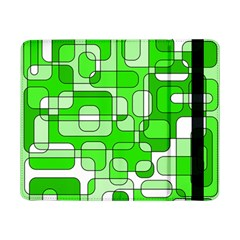Green Decorative Abstraction  Samsung Galaxy Tab Pro 8 4  Flip Case by Valentinaart