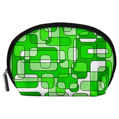 Green Decorative Abstraction  Accessory Pouches (large)  by Valentinaart