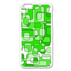 Green Decorative Abstraction  Apple Iphone 6 Plus/6s Plus Enamel White Case by Valentinaart