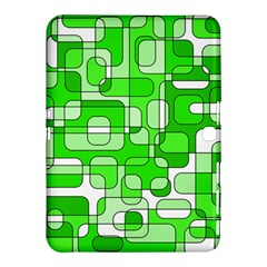 Green Decorative Abstraction  Samsung Galaxy Tab 4 (10 1 ) Hardshell Case  by Valentinaart